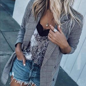 Tops - Snakeskin Print Lace Tank
